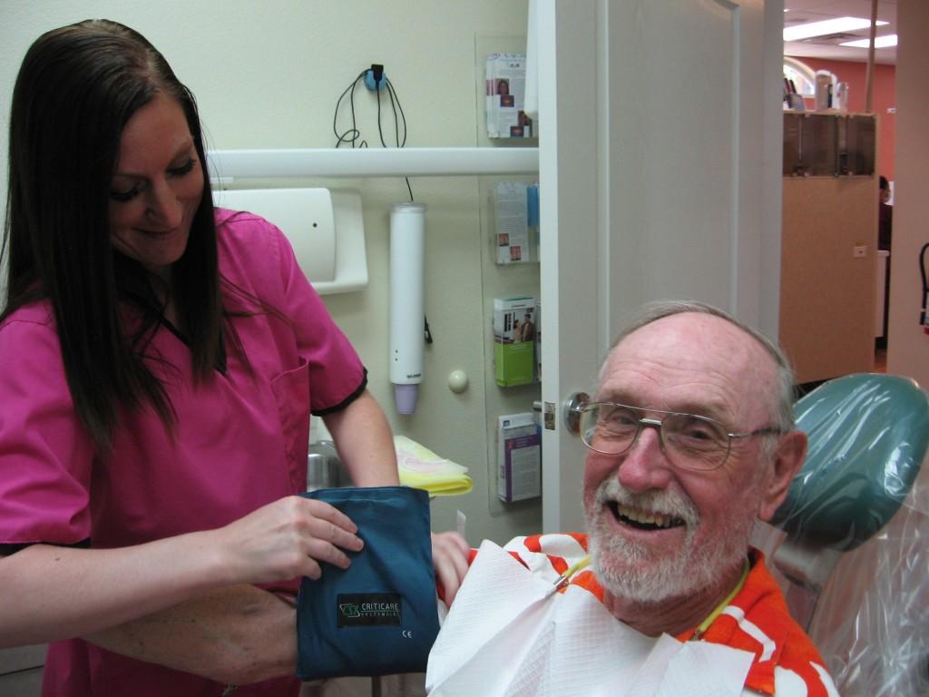 Un paciente muy contento
